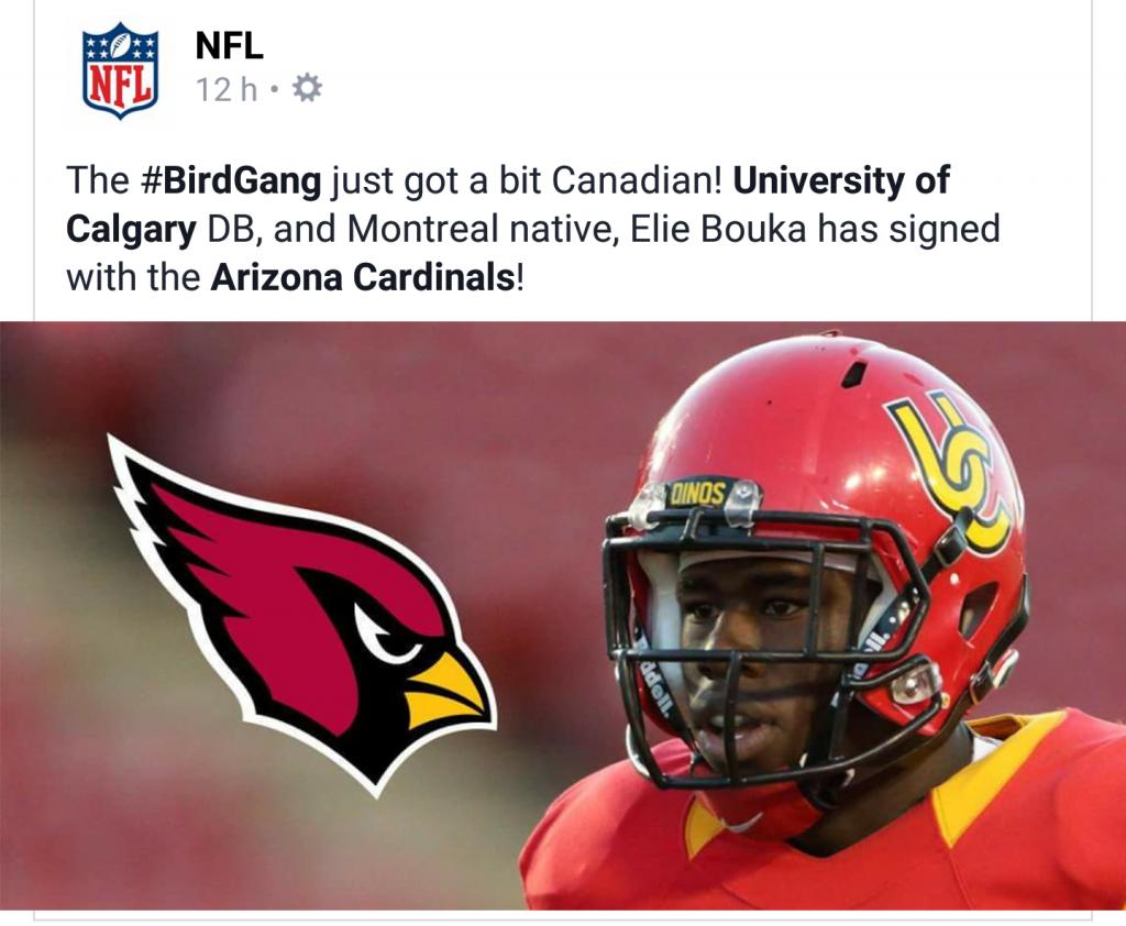Eli Bouka - NFL Tweet